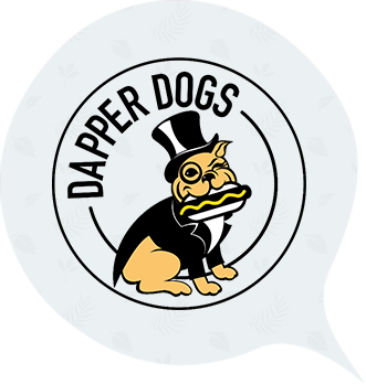 Dapper Dogs Grey Radish Logo